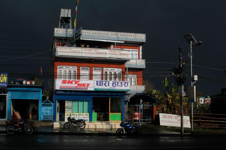 after rain in Pokara street