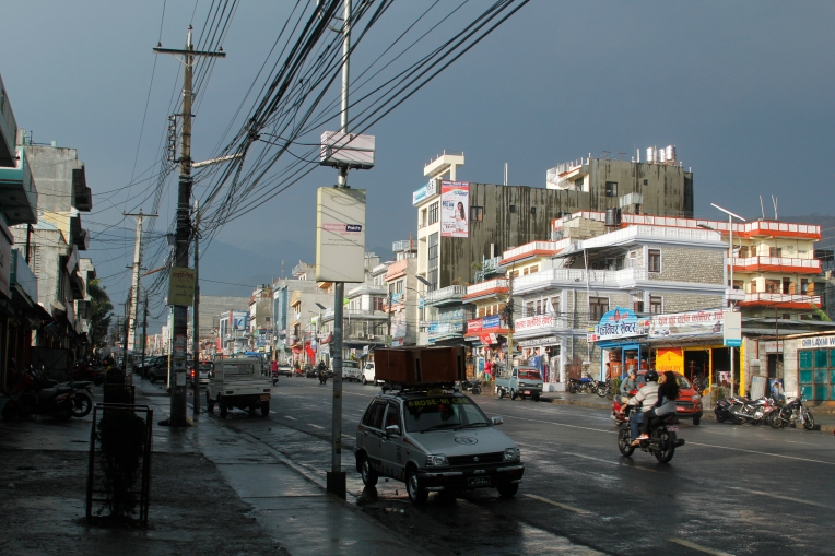 after rain at street of pokhara city3